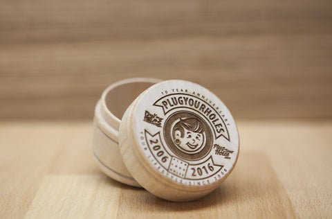 10 Years Strong - Engraved Plug Box - Limited Edition - Plugyourholes.com