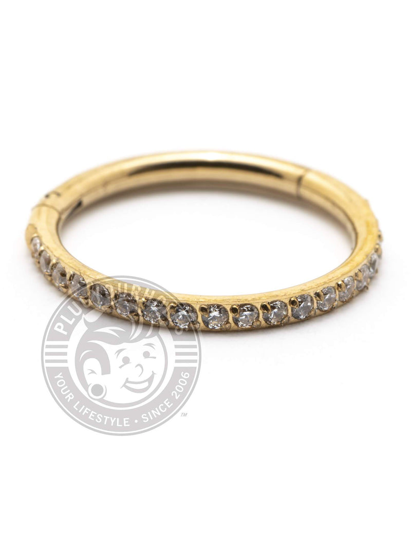 Gold Gem Ring Steel Clicker