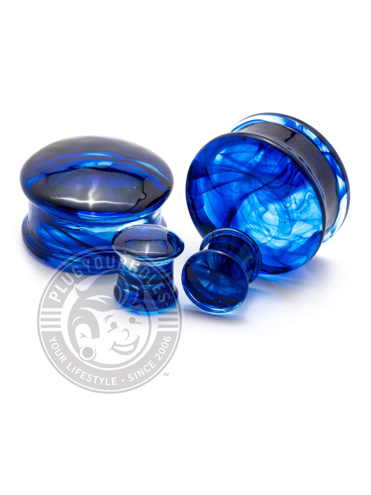Blue Smoke Pyrex Glass Plugs