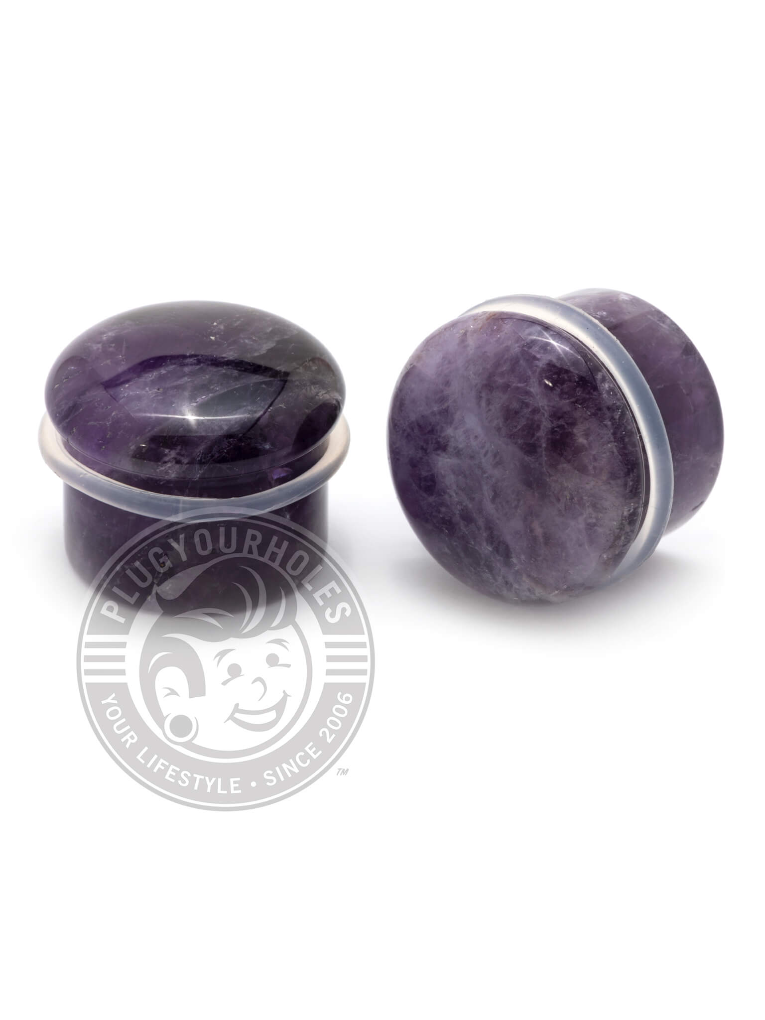 Amethyst Single Flared Stone Plugs