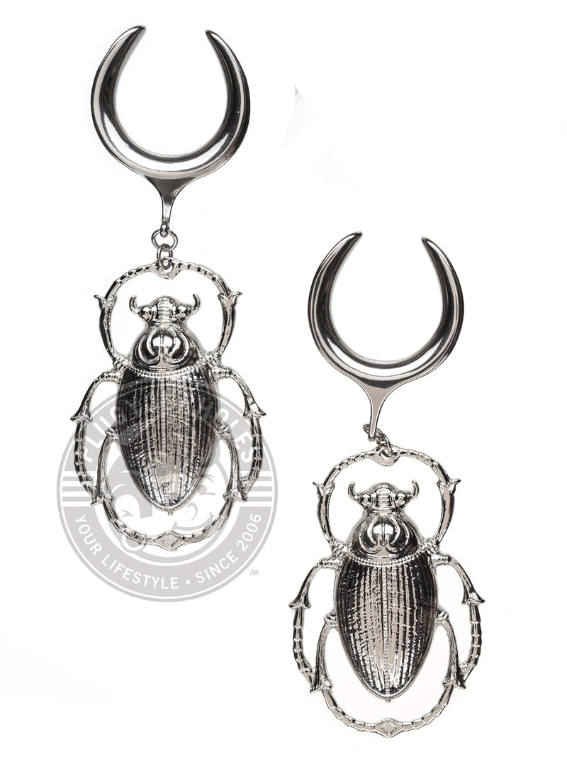 Beetle Dangle Steel Crescent Saddles