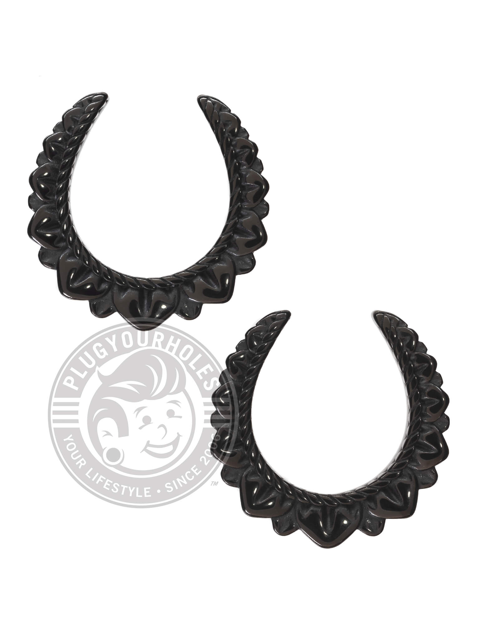 Black Floral Rope Steel Saddles