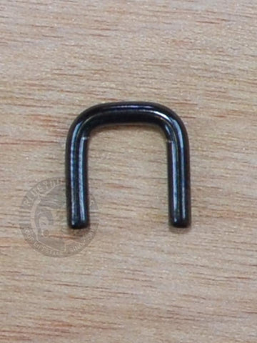 Black Steel Septum Staple Retainer - Plugyourholes.com
