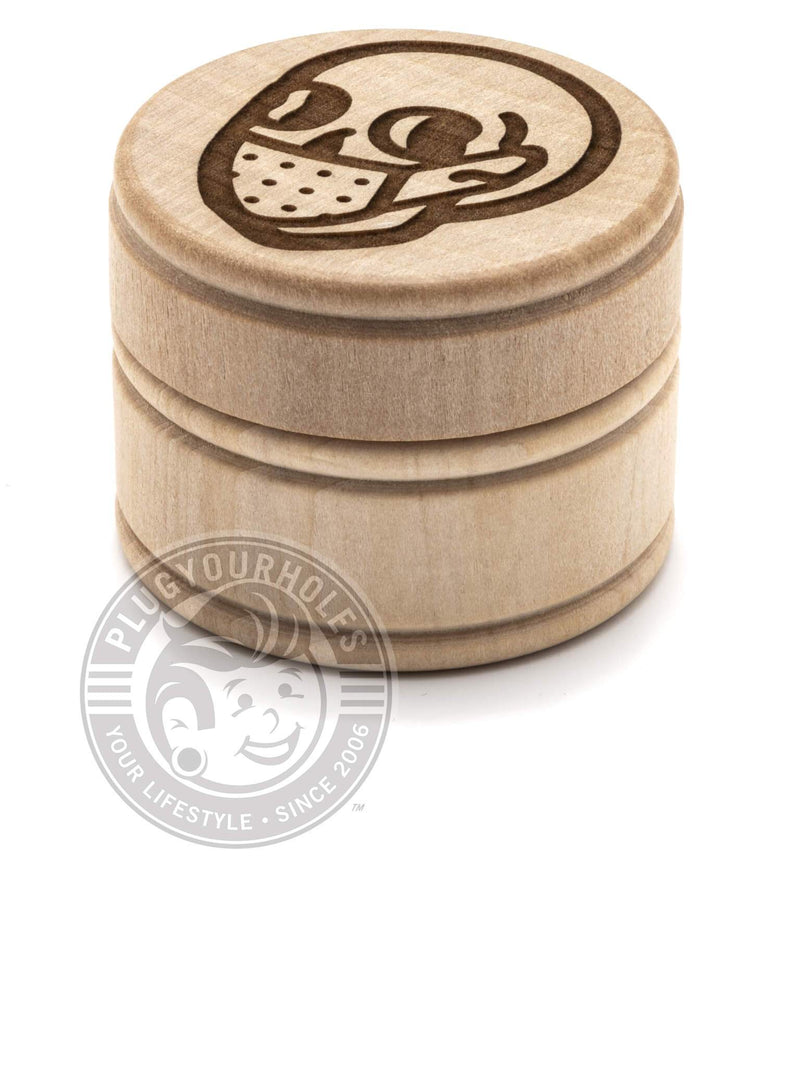 Bummer Skull - Engraved Plug Box - Limited Edition
