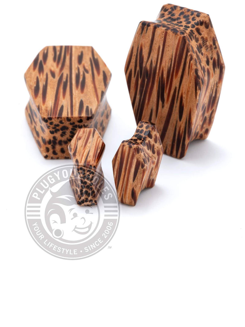 Coffin Cut Palm Wood Plugs