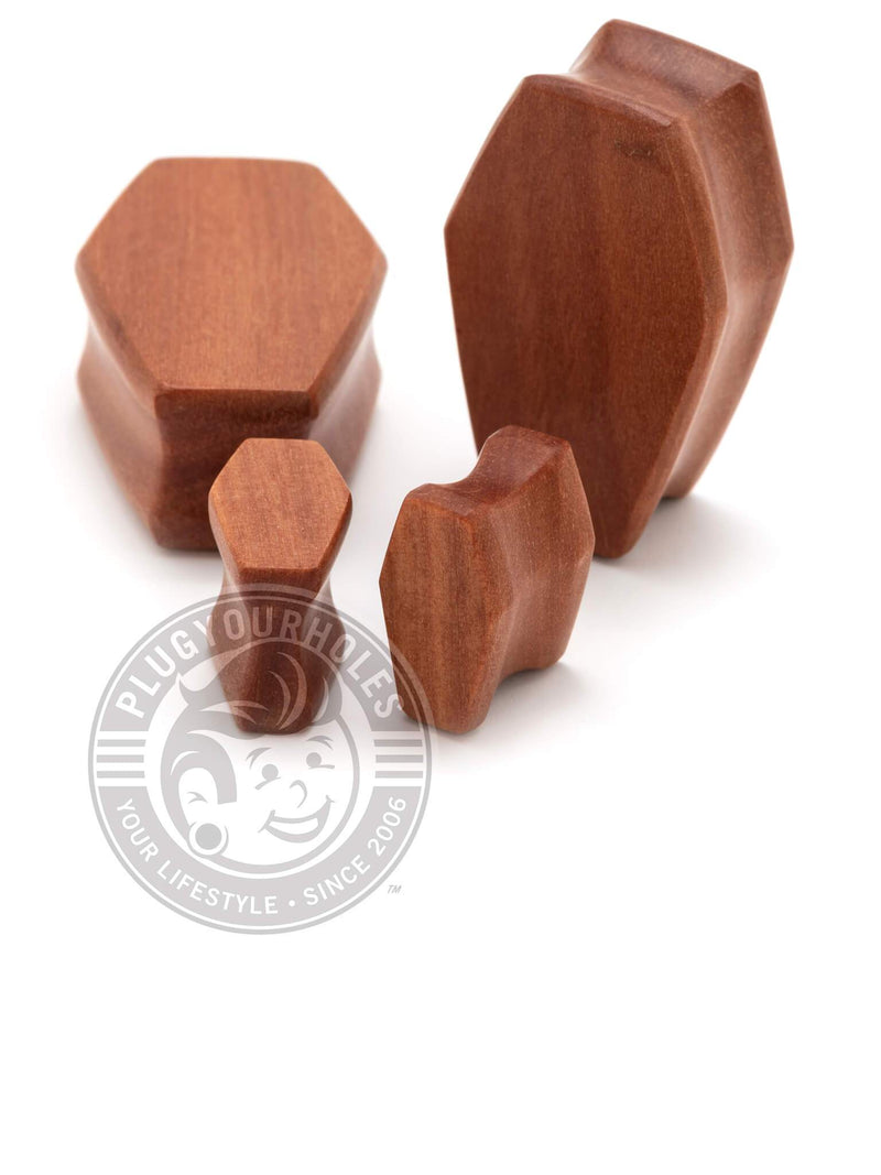 Coffin Cut Sawo Wood Plugs