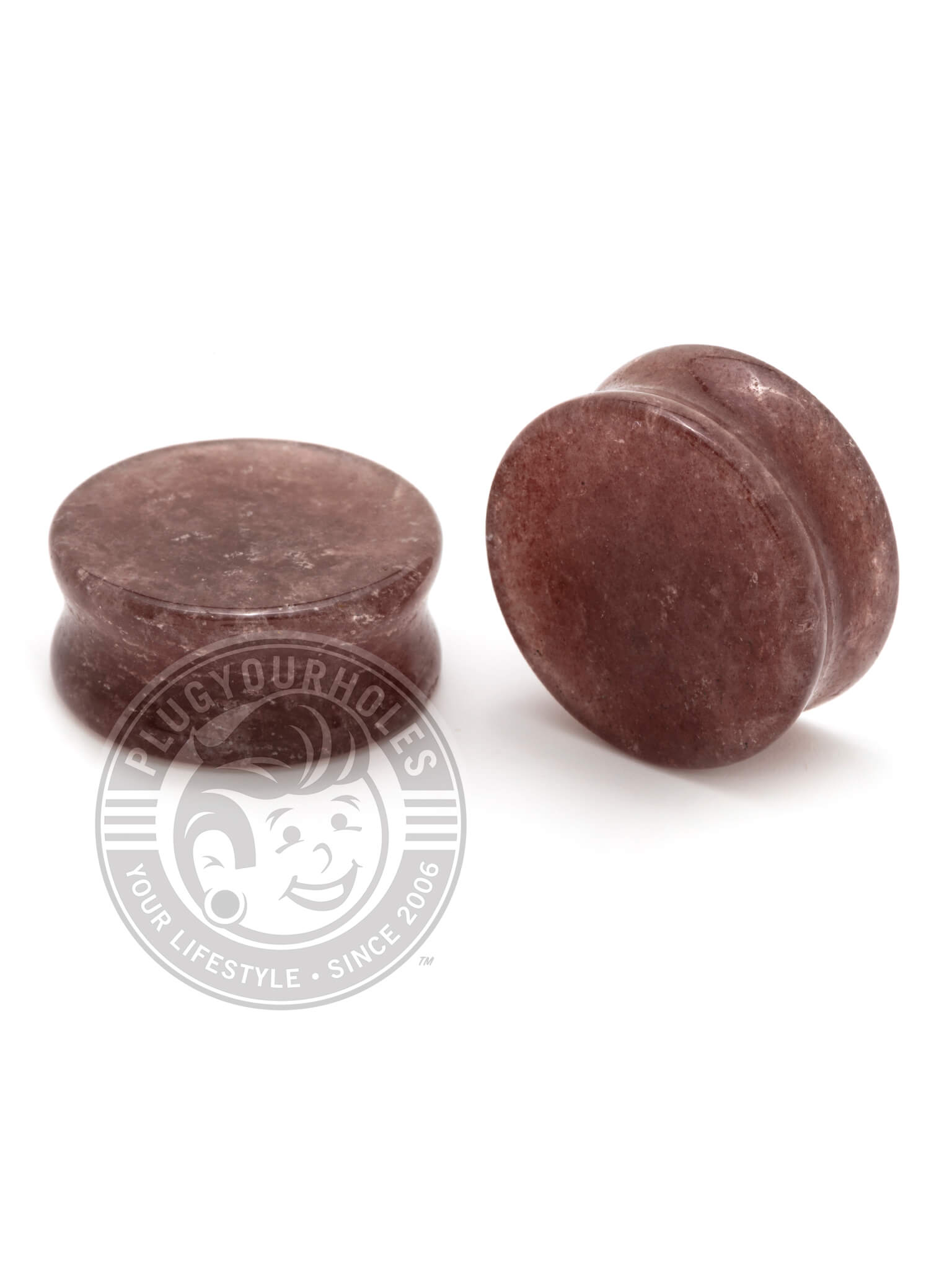 Dark Blush Aventurine Stone Plugs
