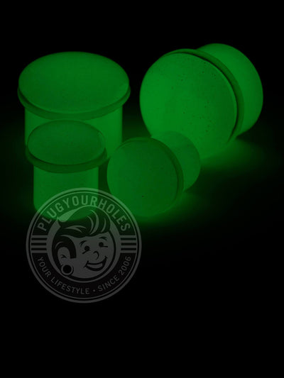 Glow Single Flared Stone Plugs