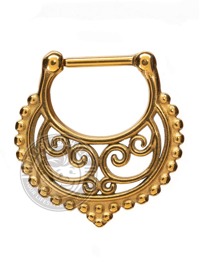 Filigree Wave Steel Septum Clicker