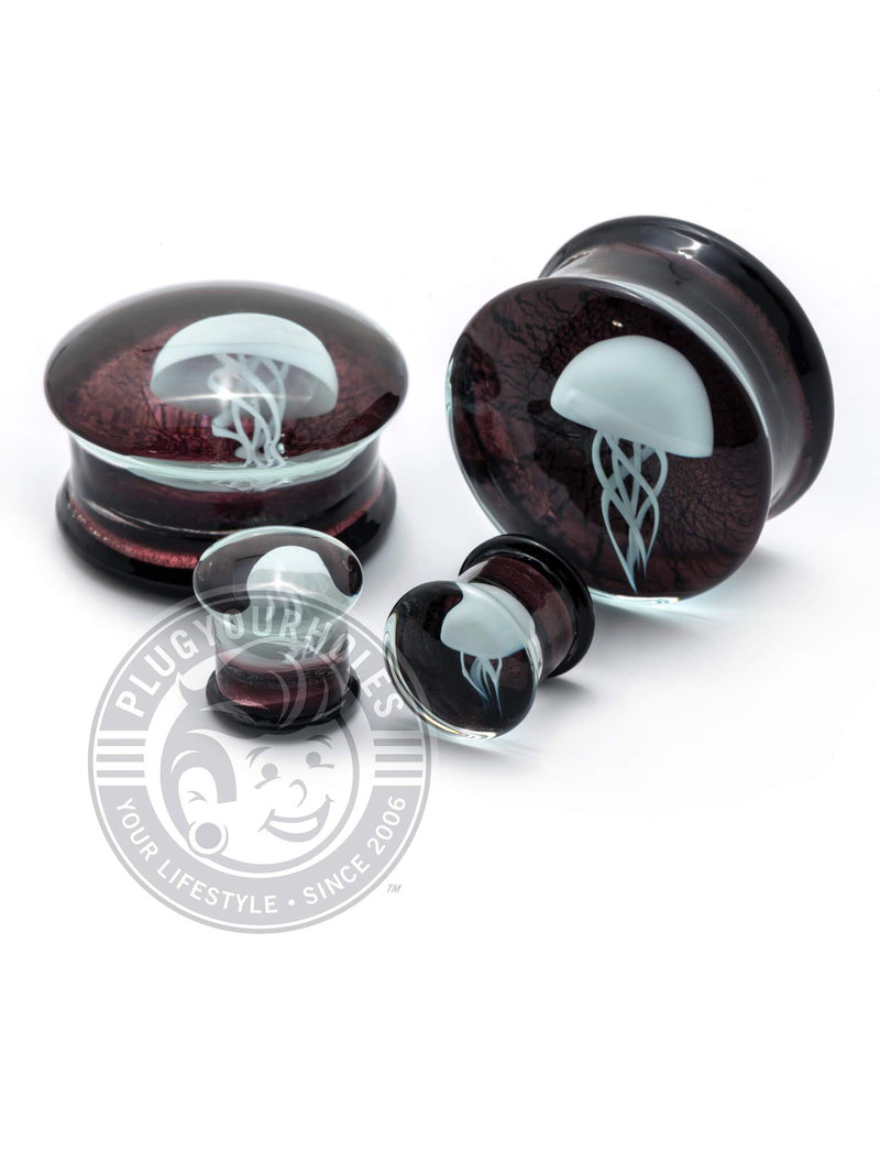Kylie The Jellyfish Purple Pyrex Glass Plugs