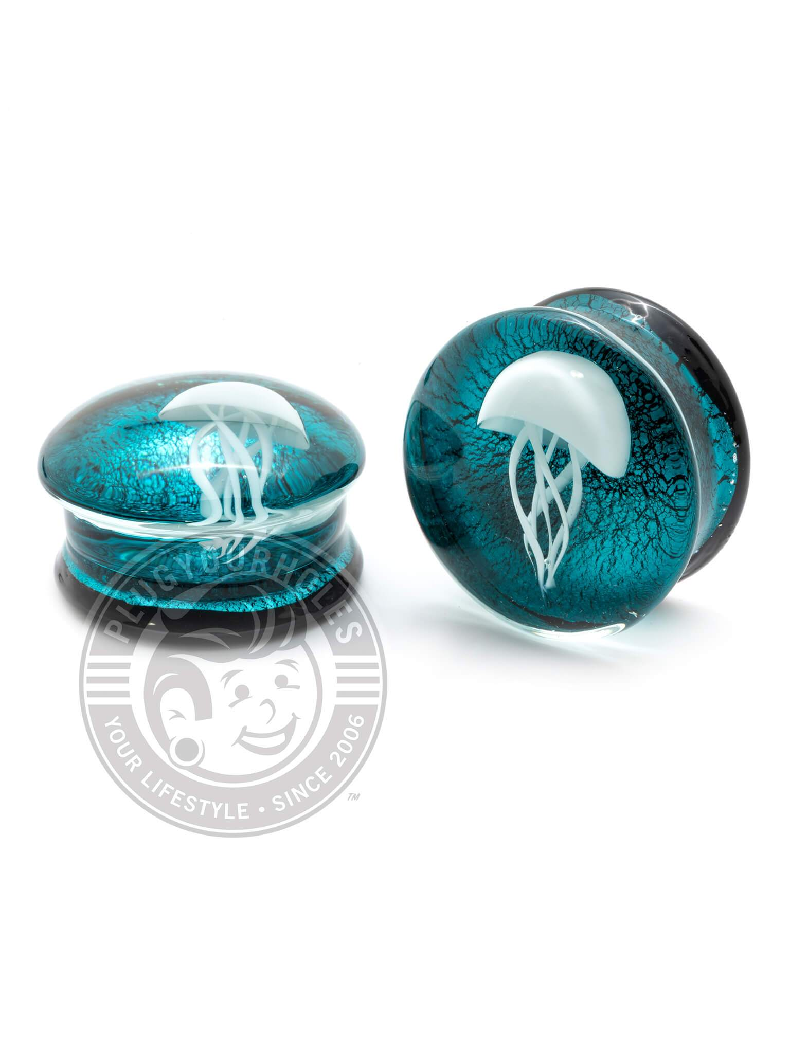 Kylie The Jellyfish Pyrex Glass Plugs