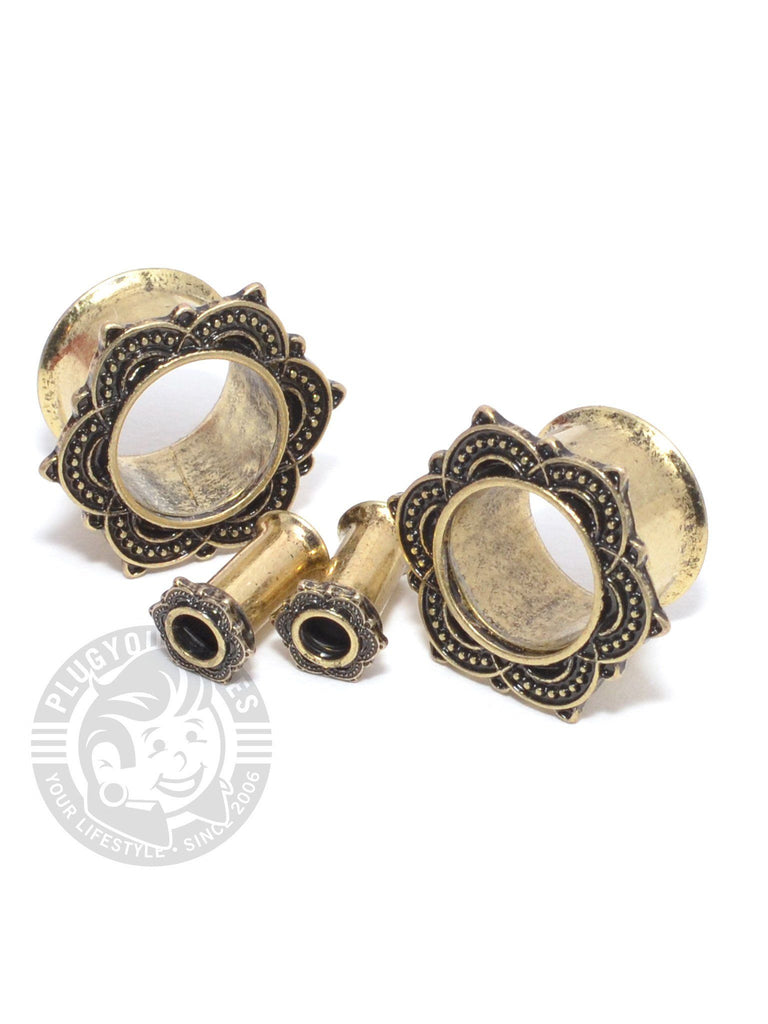 Mandala Antique Double Flared Steel Tunnels - Plug Your Holes - Your Lifestyle, Since 2006.  - 2