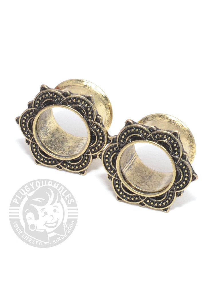 Mandala Antique Double Flared Steel Tunnels - Plug Your Holes - Your Lifestyle, Since 2006.  - 1