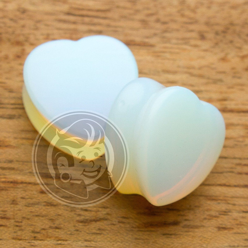 Opal Stone Heart Plugs - Plug Your Holes - Your Lifestyle, Since 2006.  - 2