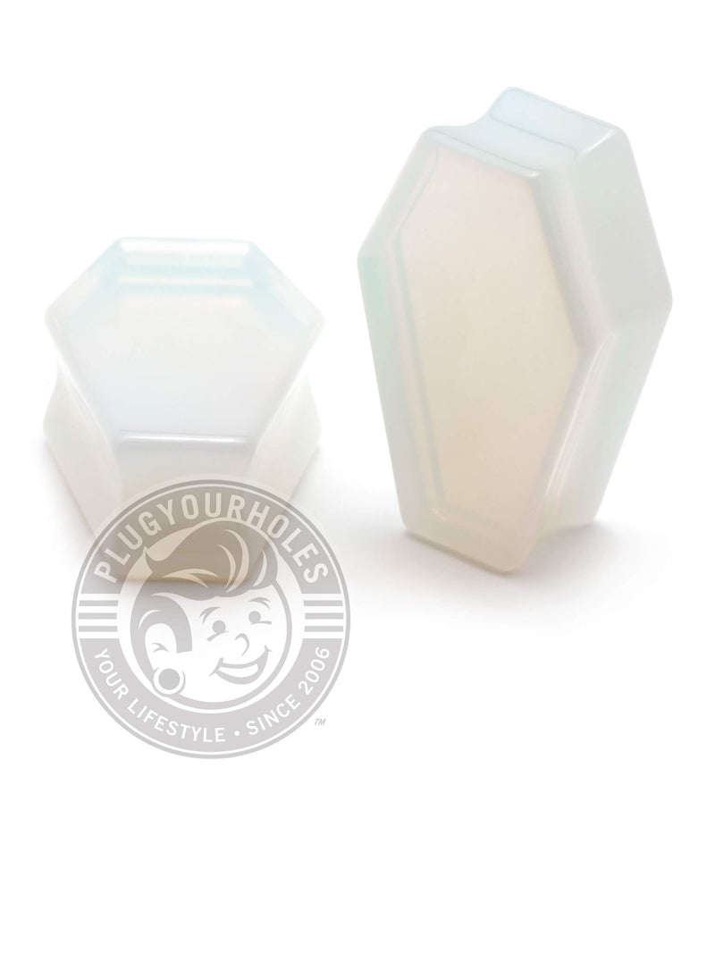 Opal Coffin Cut Stone Plugs