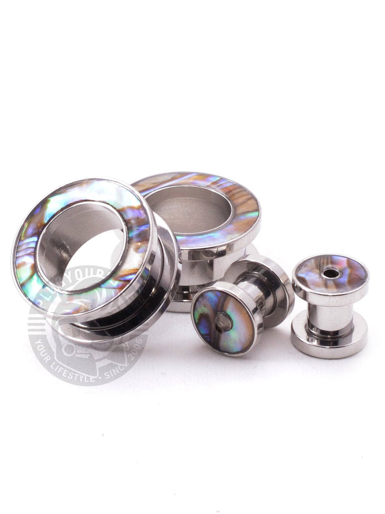 Mother of Pearl Threaded Steel Tunnels - Plug Your Holes - Your Lifestyle, Since 2006.  - 2