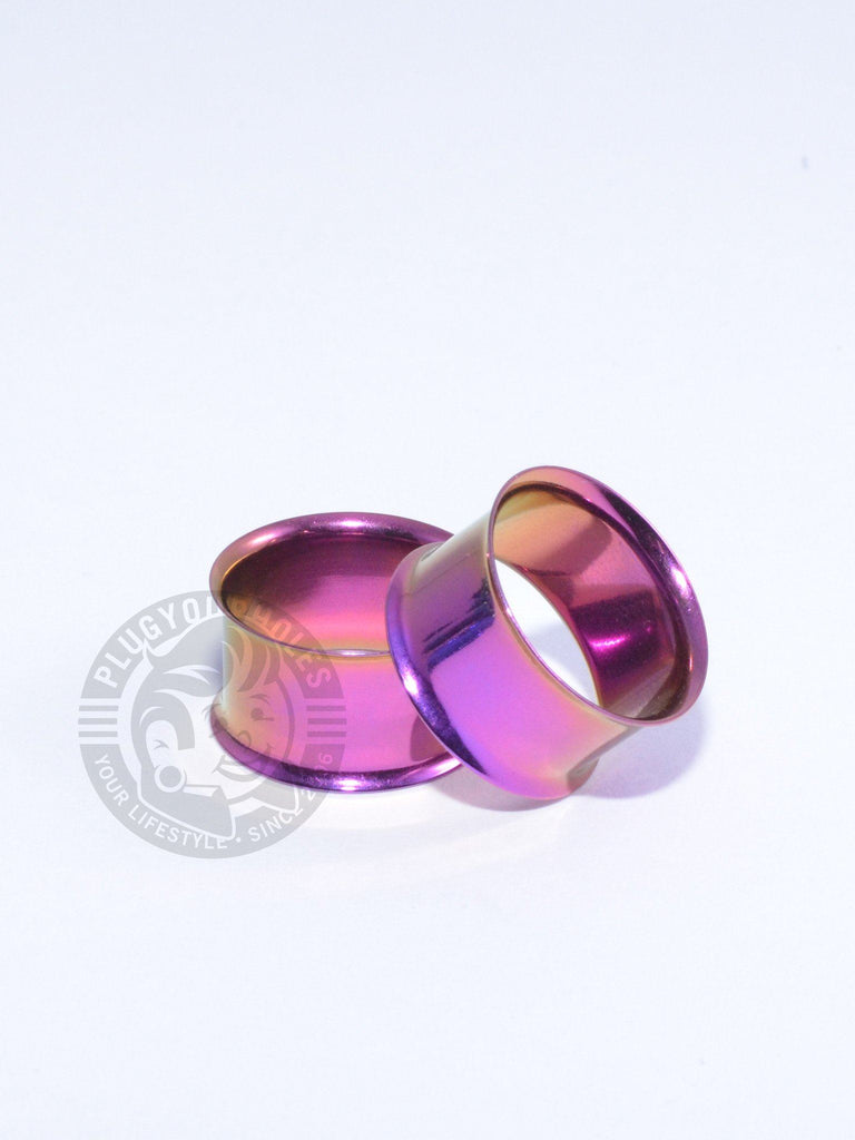 Purple Double Flared Steel Tunnels - Plug Your Holes - Your Lifestyle, Since 2006.