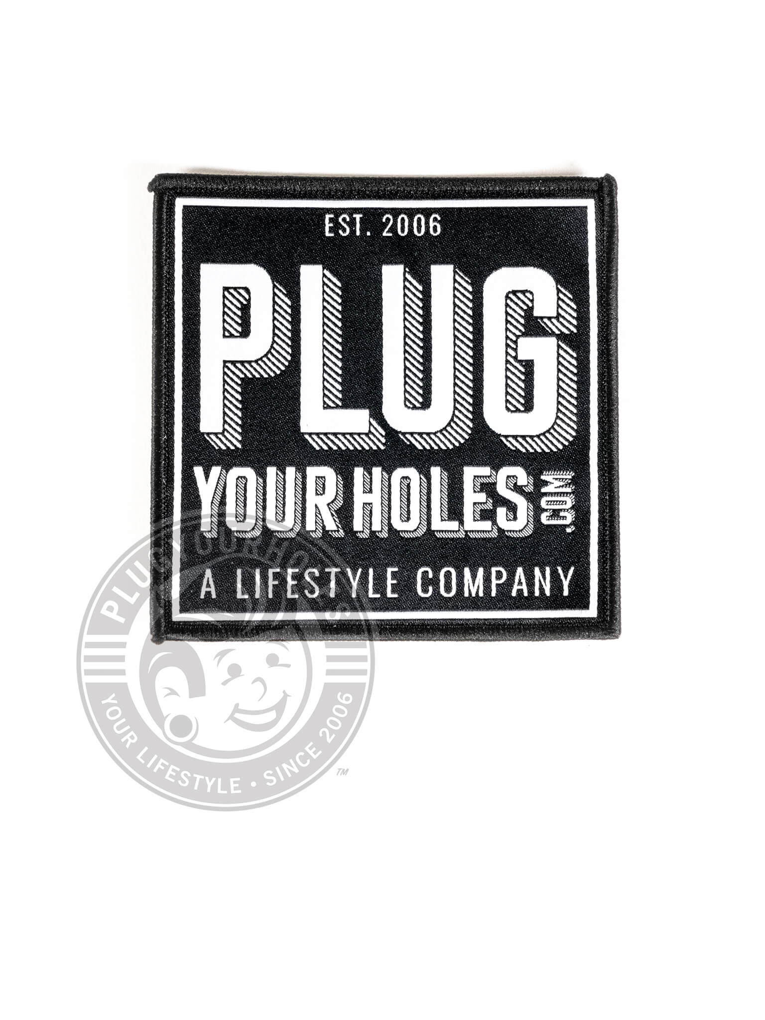 PlugYourHoles.com Box Logo Patch