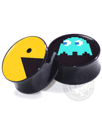 Pacman - Ghost - Image Plugs - COLLECTORS - 1/30 - Plug Your Holes - Your Lifestyle, Since 2006.