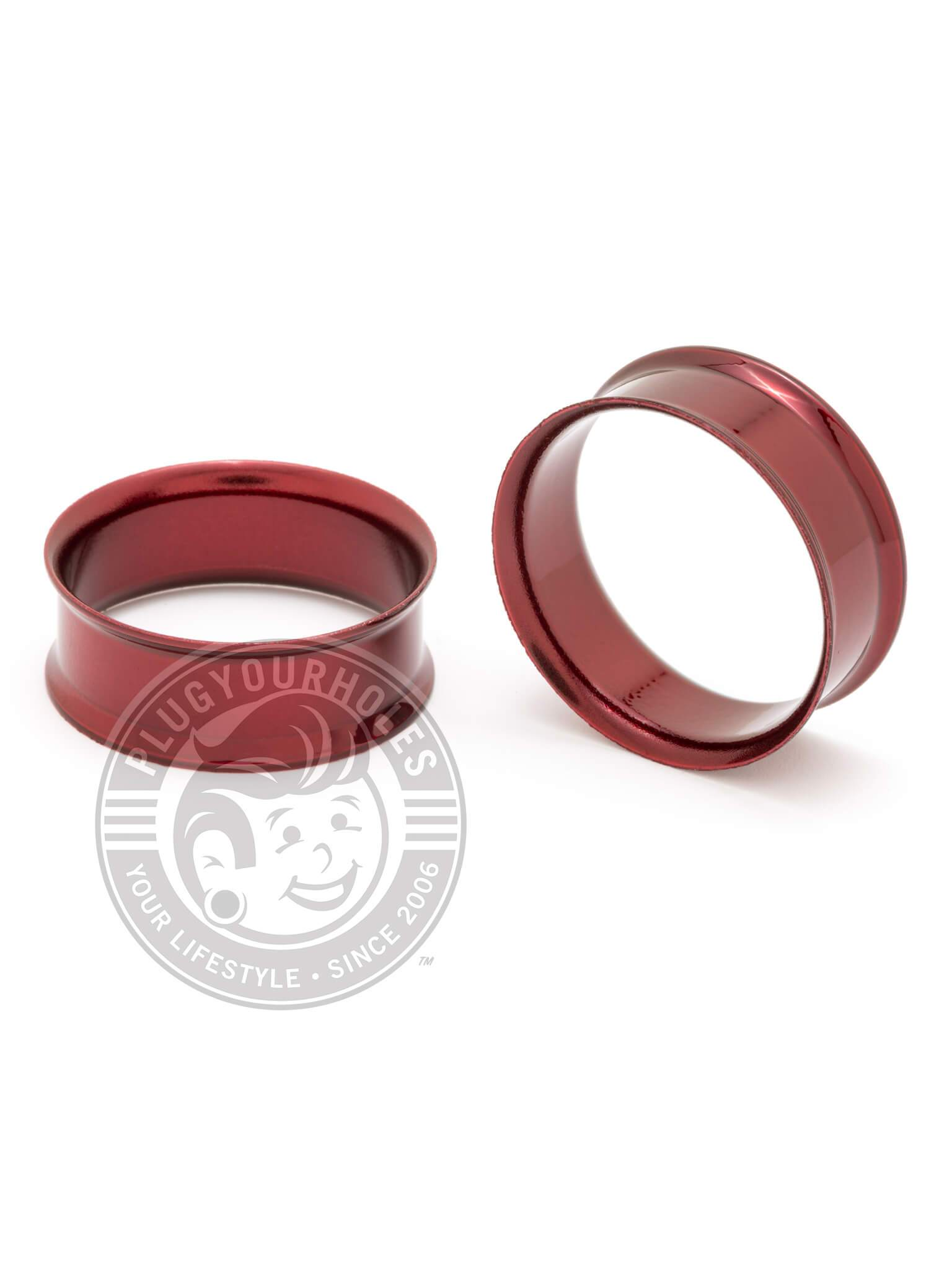 Red Double Flared Steel Tunnels