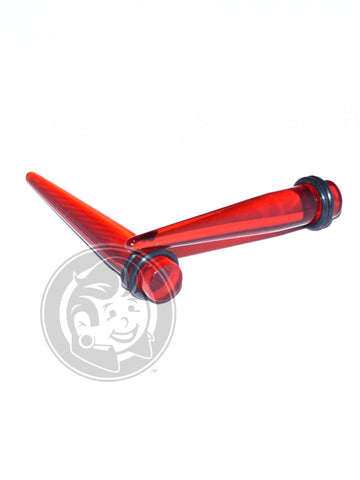 Red Acrylic Tapers - Plug Your Holes - Your Lifestyle, Since 2006.  - 1