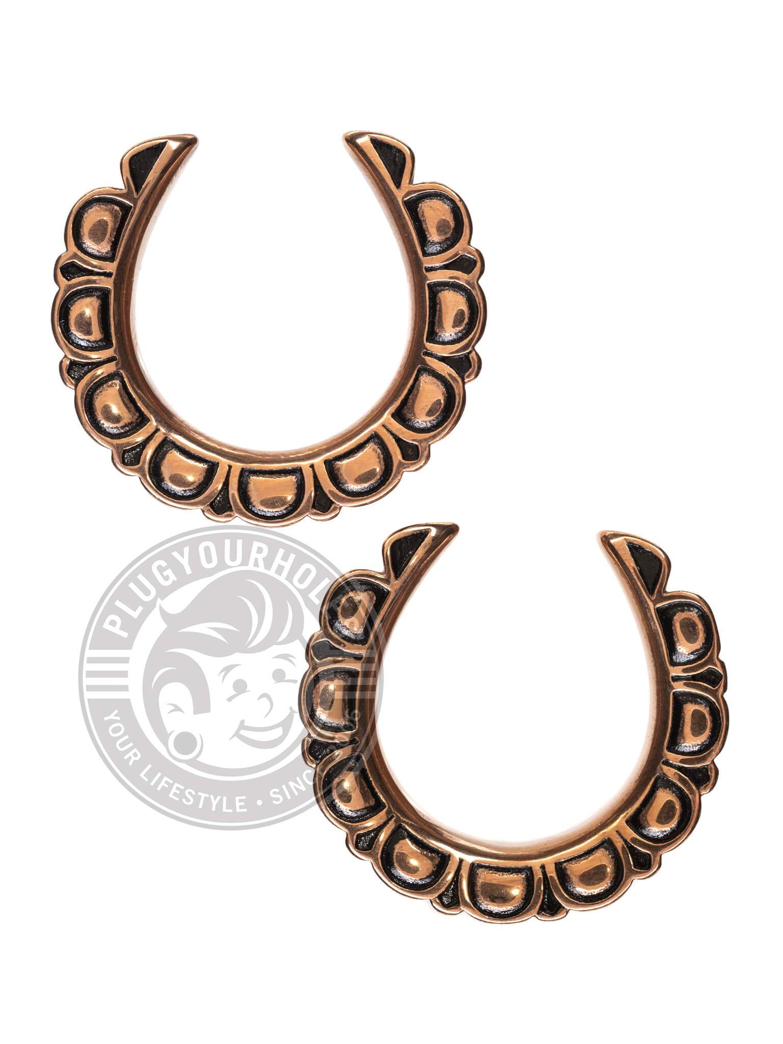 Rose Gold Mandala Petals Crescent Steel Saddles