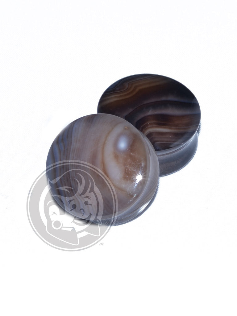 Smoke Agate Stone Plugs - Plug Your Holes - Your Lifestyle, Since 2006.