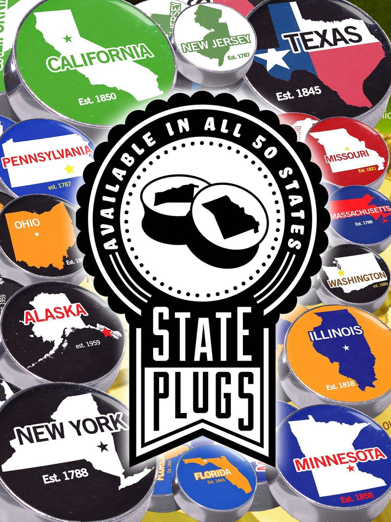 US State - Image Plugs [Choose from all 50 States]