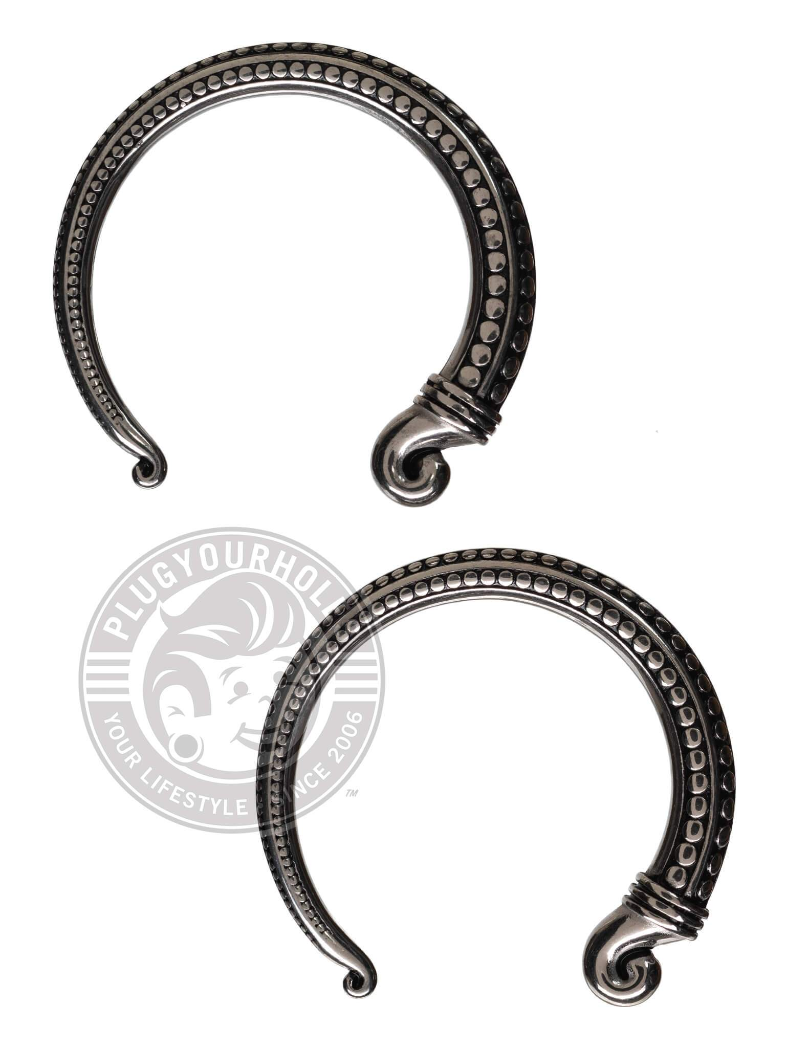 Stippled Open Hoop Steel Hangers