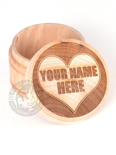 Custom Heart Engraved Plug Box