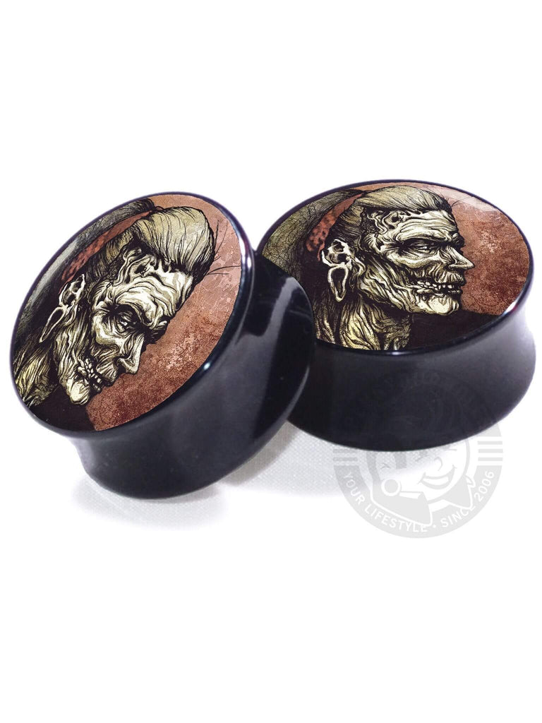 Zombie Illustrated - Acrylic - Image Plugs - COLLECTORS - 1/250 - Plug Your Holes - Your Lifestyle, Since 2006.  - 3