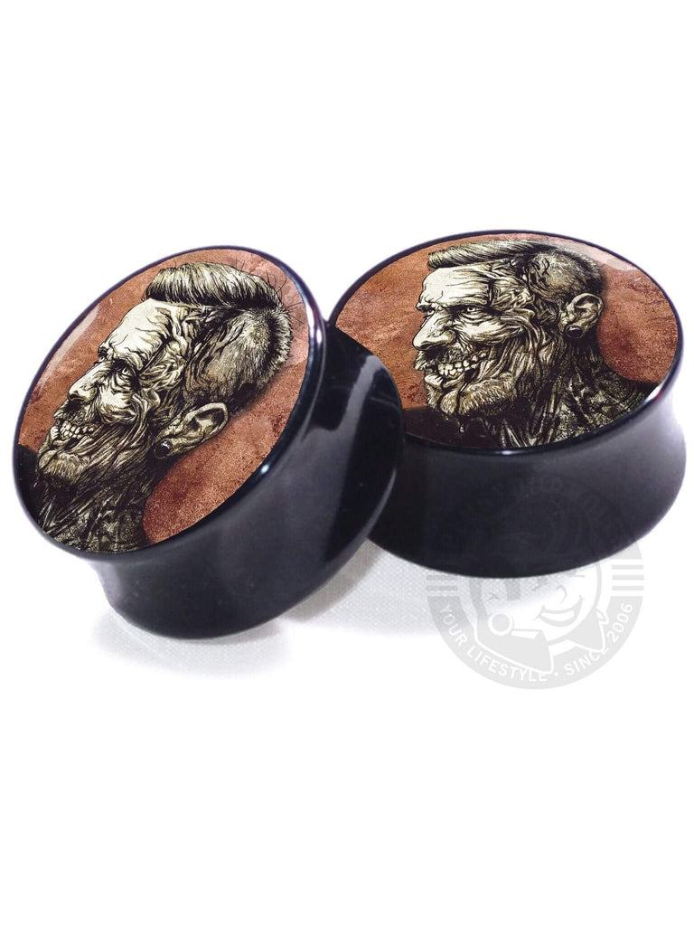 Zombie Illustrated - Acrylic - Image Plugs - COLLECTORS - 1/250 - Plug Your Holes - Your Lifestyle, Since 2006.  - 2