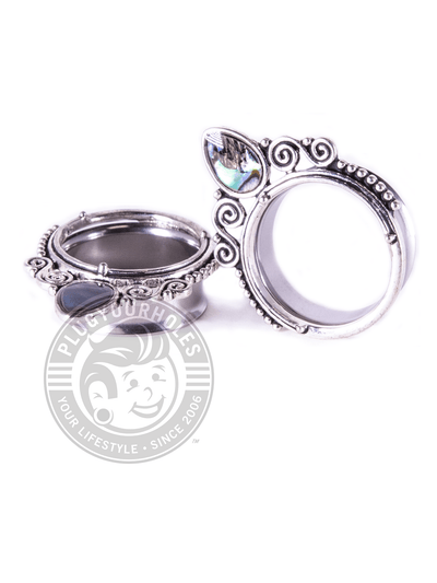 Single Prong Abalone Double Flared Steel Tunnels