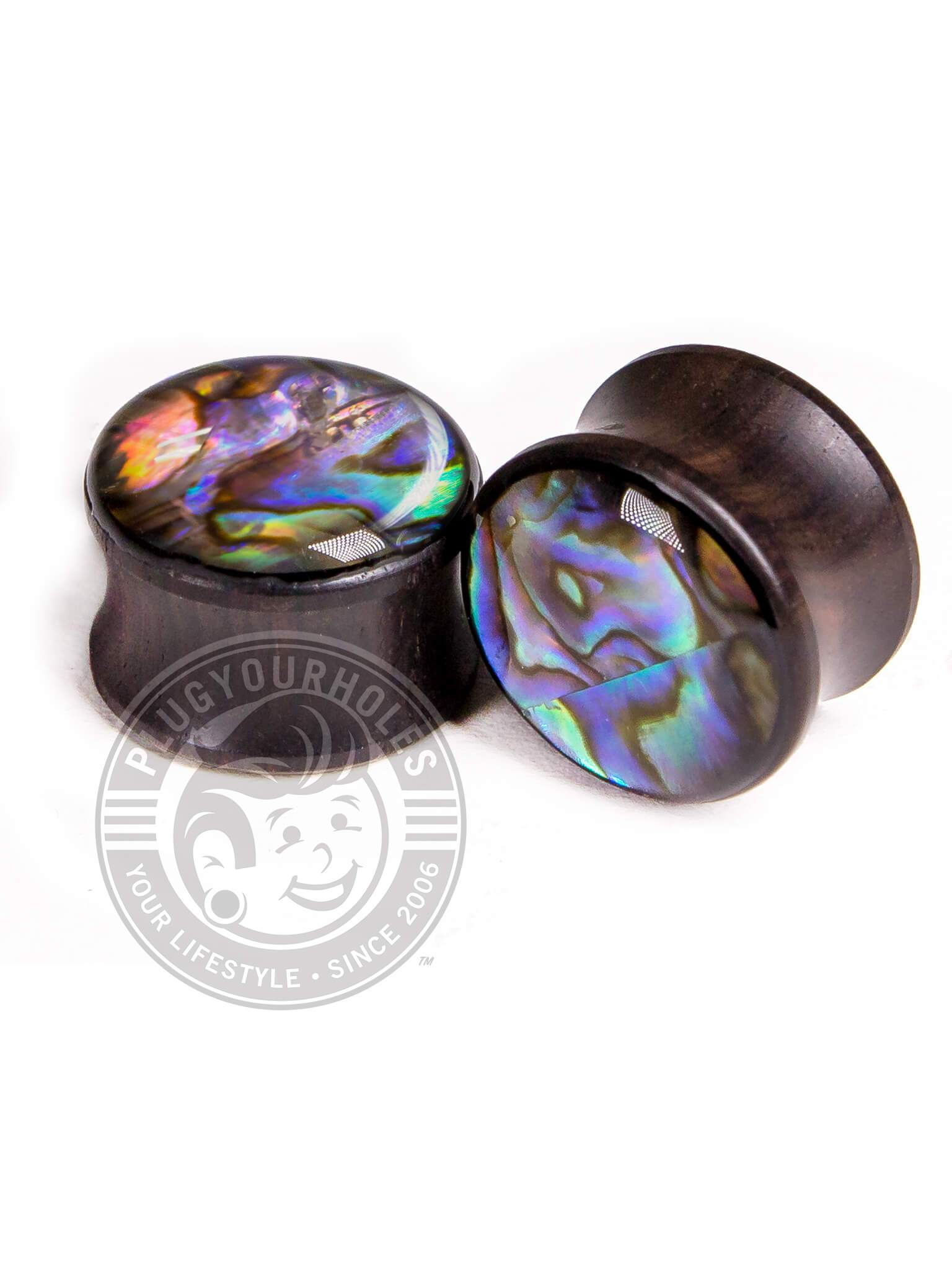 Abalone Inlay Sono Wood Plugs