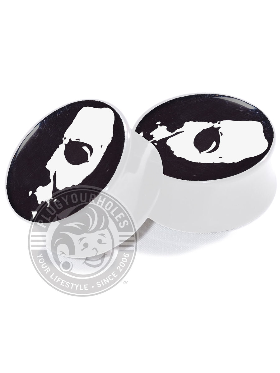 Michael Myers Half Mask - Image Plugs (The Limited Black Series) - Plugyourholes.com