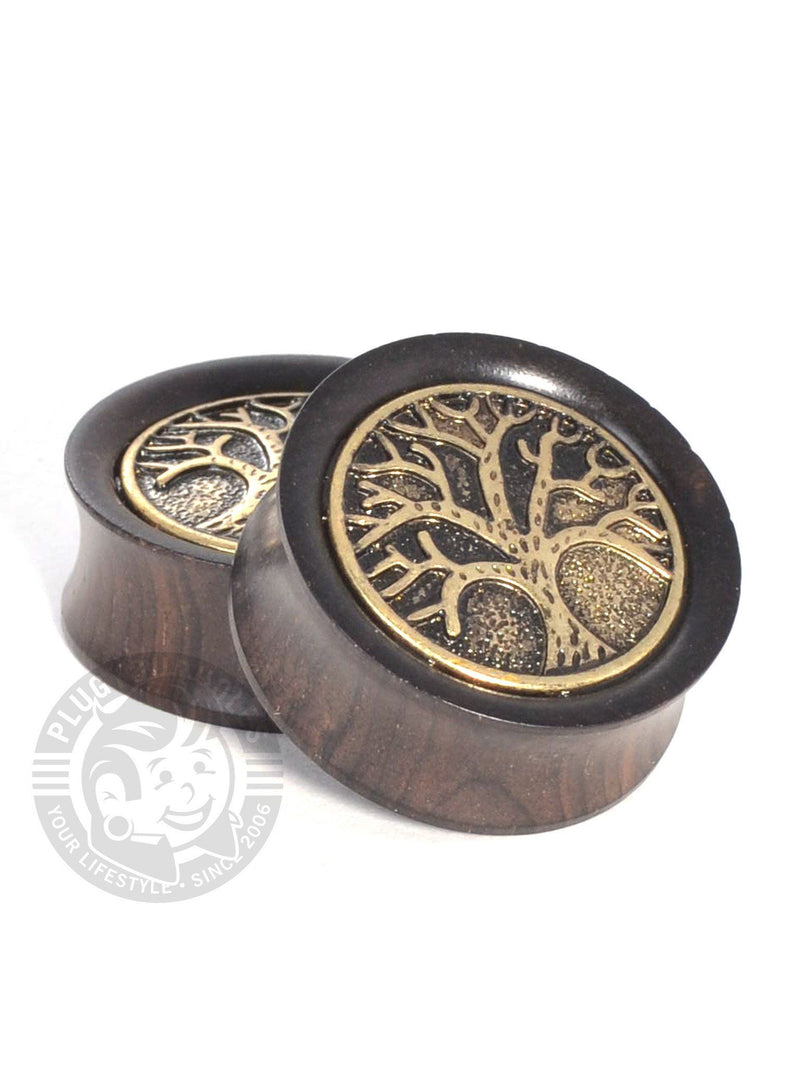 Antique Tree Ebony Wood Plugs