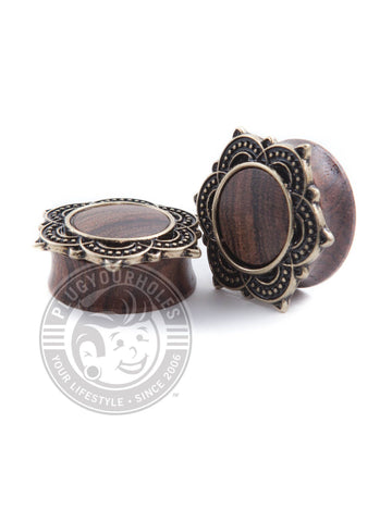 Antique Mandala Wood Plugs - Plugyourholes.com