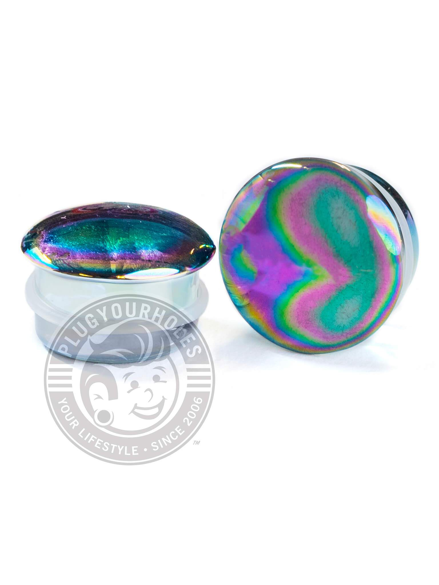 Aurora Single Flared Glass Plugs