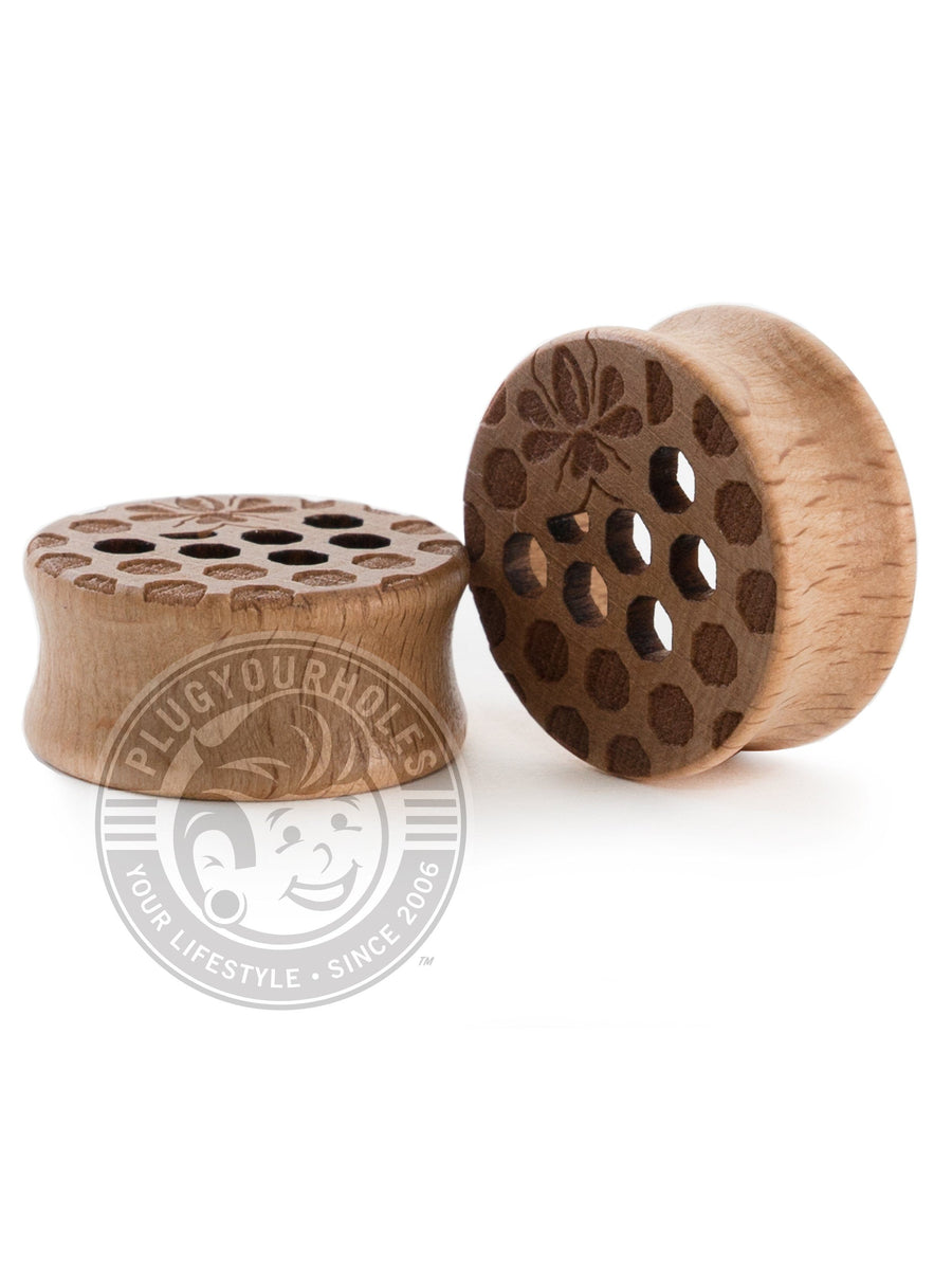 Hollow Honeycomb Wood Plugs - Plugyourholes.com