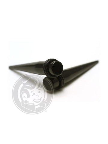 Black Acrylic Tapers -