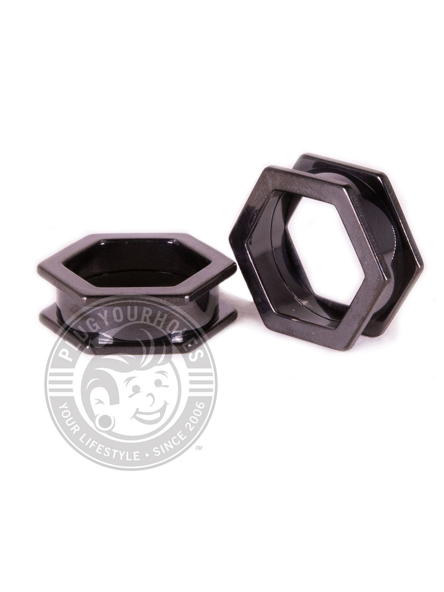 Black Hexagon Threaded Steel Tunnels