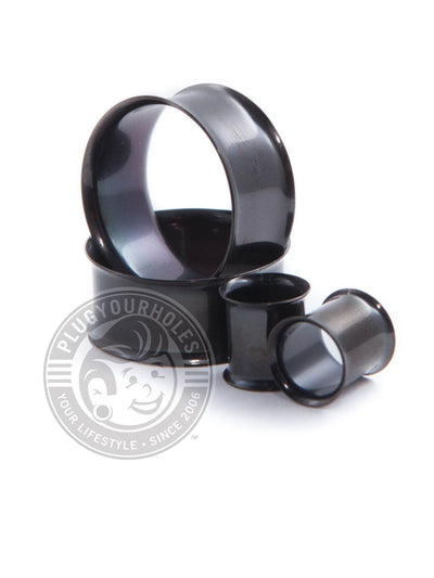 Black Double Flared Steel Tunnels