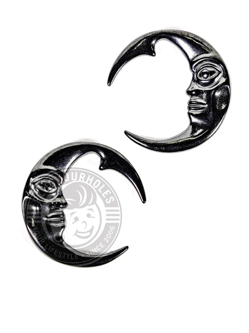 Crescent Moon Face Steel Hangers