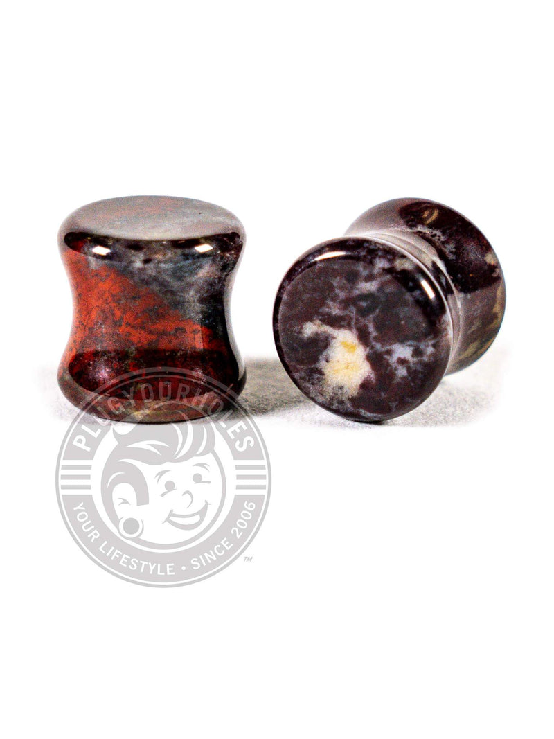 Blood Red Jasper Stone Plugs