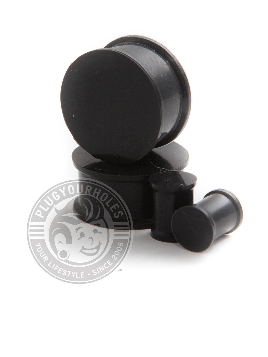 Black Silicone Plugs