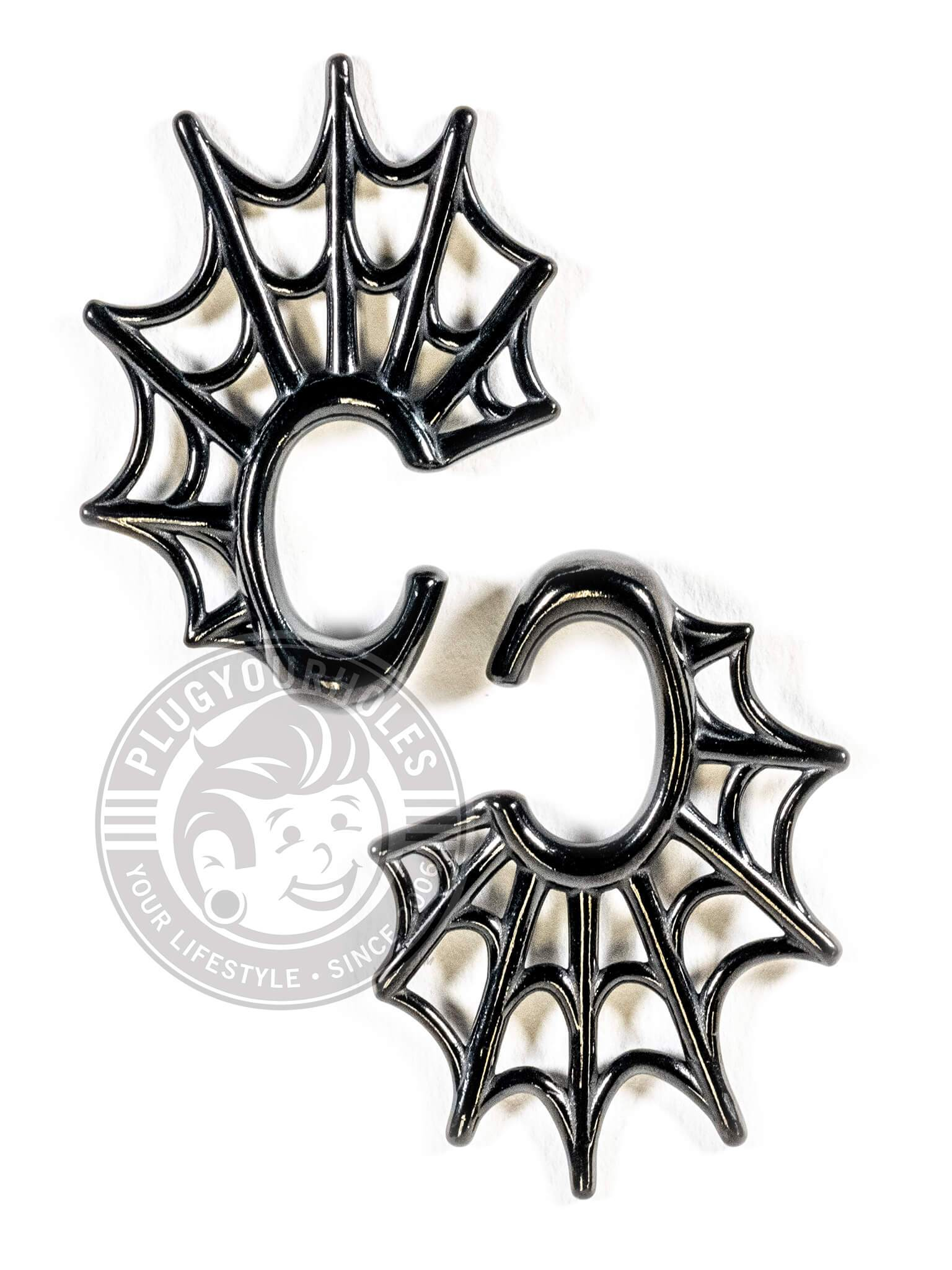 Black Spider Web Steel Hook Hangers