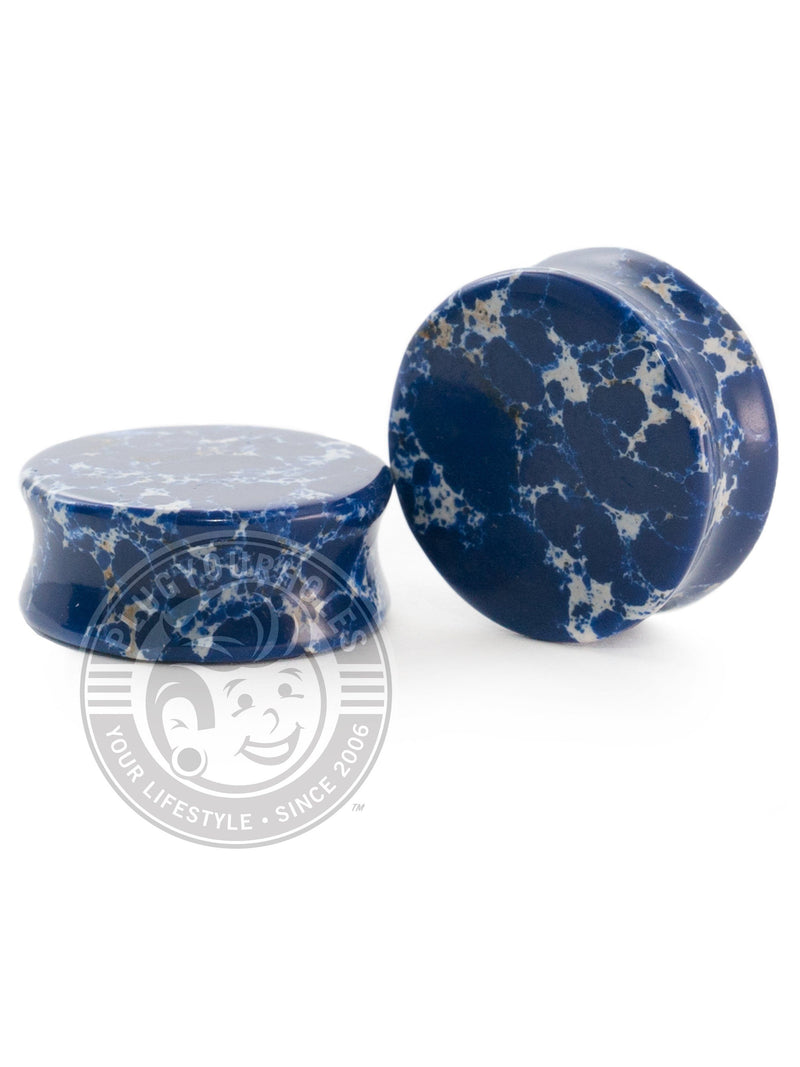 Blue Imperial Jasper Stone Plugs