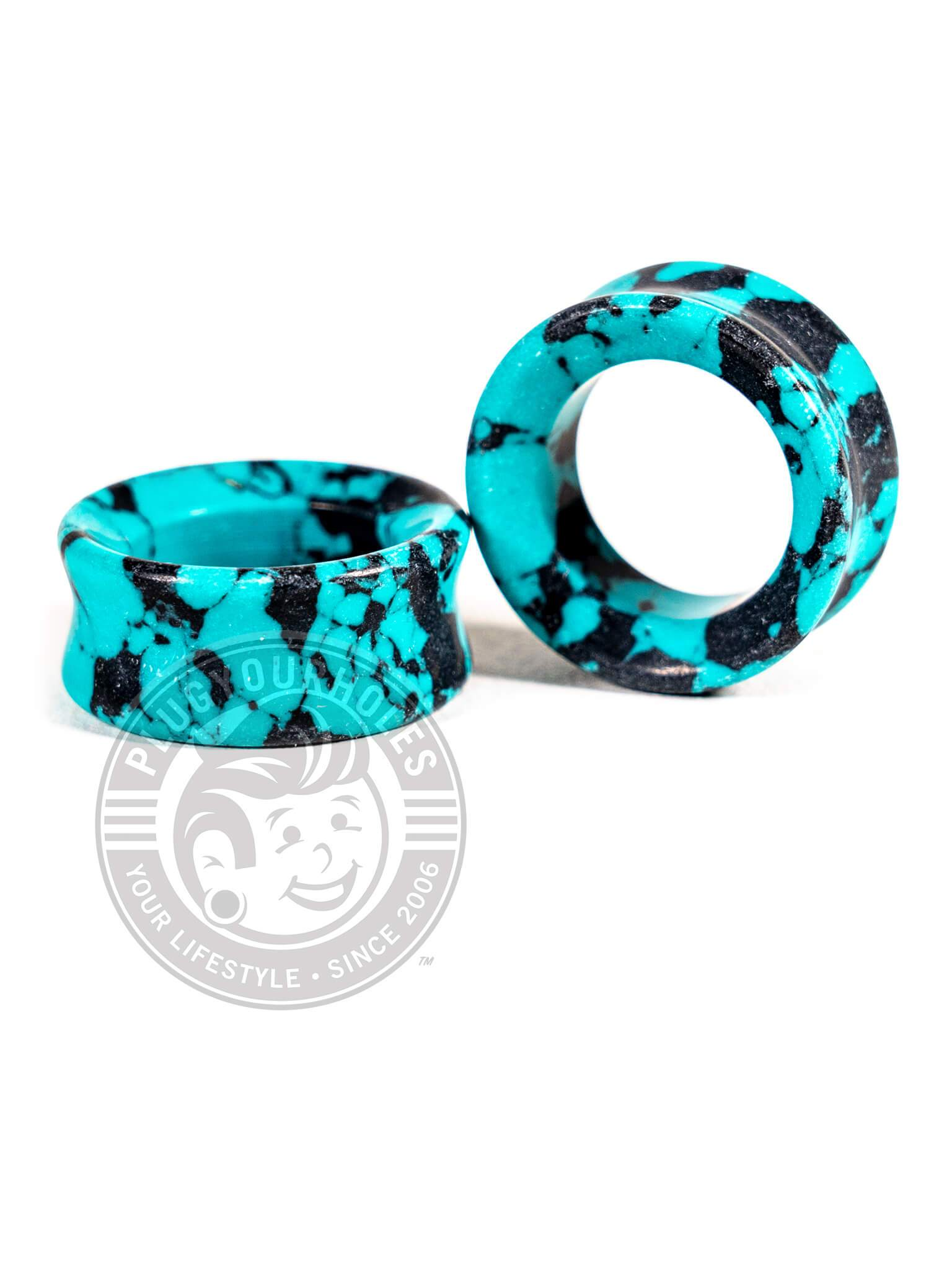 Black Turquoise Stone Tunnels