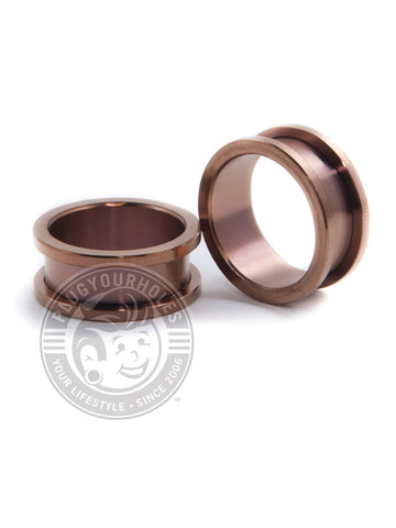 Bronze Threaded Steel Tunnels - Plugyourholes.com