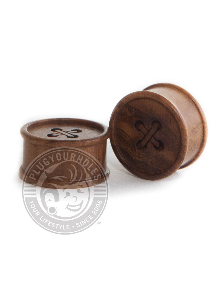 Button Wood Plugs - Plugyourholes.com